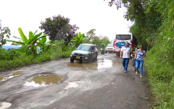 Así está la vía Boquerón. FOTO DIEGO ZAMBRANO