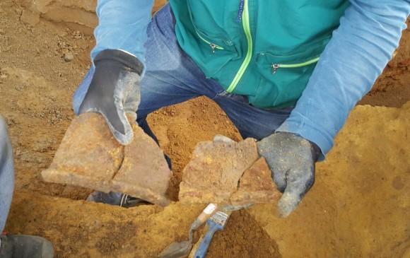 Fragmentos de cerámica prehispánica. FOTOS CORTESÍA METROPLÚS