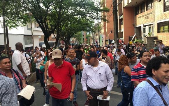 15.000 personas se unieron a la marcha. FOTO: Cortesía Asociación de Institutores de Antioquia (Adida) y Asociación Colombiana de Representantes Estudiantiles (Acrees)