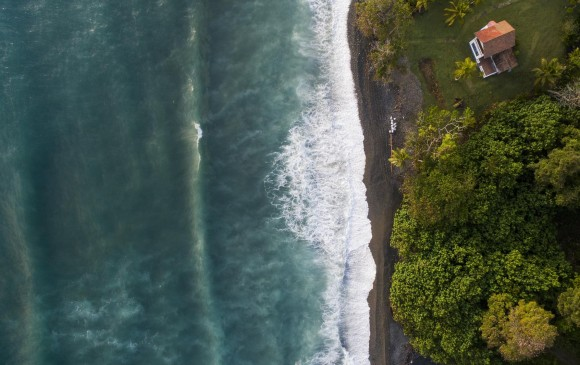 Vista panorámica aérea de Capurganá, corregimiento de Acandí, Chocó, en el mar caribe, Golfo de Urabá. Foto: Esteban Vanegas