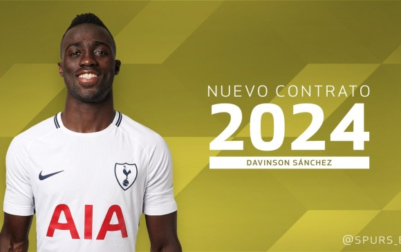 Dávinson Sánchez renovó su contrato con el Tottenham hasta 2024