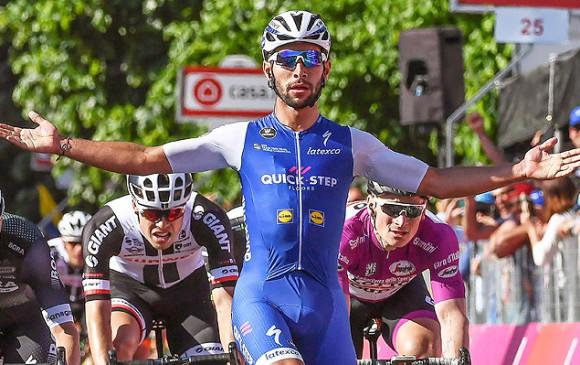 Fernando Gaviria se cayó en la Tirreno Adriático