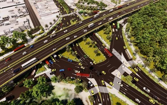Imagen modelada de cómo quedaría la rotonda de Exposiciones. IMAGEN: Cortesía EDU