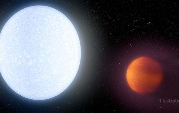 Descubren planeta gigante más caliente que la mayoría de estrellas