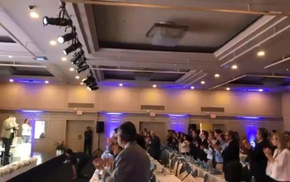 Aspecto de la reunión de la SIP. Twitter Andrés Mompotes