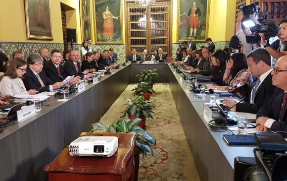Reunión del Grupo de Lima en Lima, Perú, Para hablar de la situación en Venezuela. FOTO ARCHIVO COLPRENSA