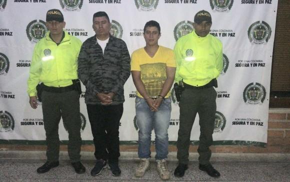 """""""El Indio"""" junto a Juan Carlos Sepúlveda Parra """"el Gordo"""". FOTO CORTESÍA"""