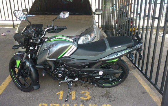 Esta es la moto que fue robada en el barrio Santa María de Robledo. FOTO CORTESÍA GUARDIANES ANTIOQUIA