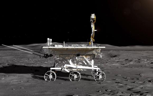 Impresión artística facilitada por el CNSA del vehículo lunar de la sonda lunar Chang'e-4. FOTO: EFE