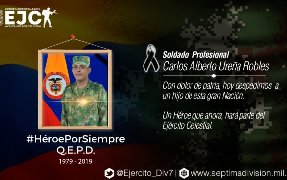 Atentado con explosivos que sería responsabilidad del Eln deja un soldado muerto