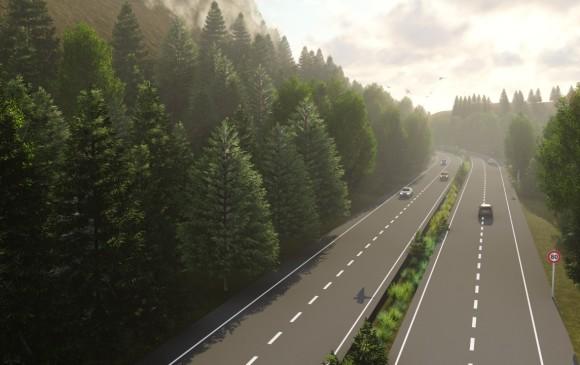 Se espera que la licitación para la obra, que reducirá 40 % el trayecto Medellín - Rionegro, salga antes de julio. Render cortesía