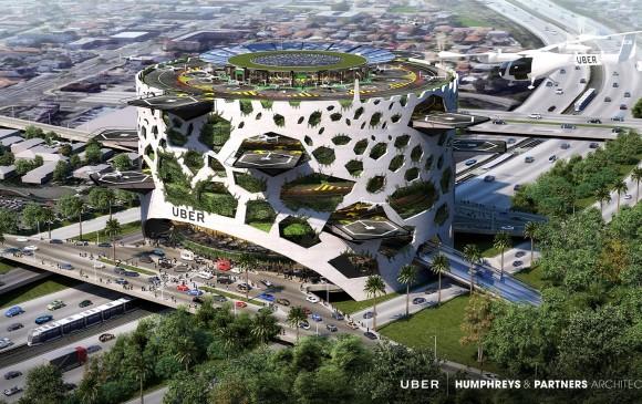 Una de las propuestas de infraestructura de los skyports, los aeropuertos para los taxis voladores. FOTOS cortesía uber
