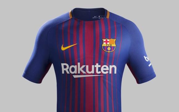 97e61be6c4 Esta será la nueva camiseta que vestirán los jugadores del Barcelona  español. FOTO CORTESÍA FC
