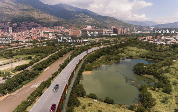 La obra aún no tiene tiempos de finalización. Amva y Alcaldía de Medellín esperan iniciarla en agosto. FOTO render Cortesía AMVA