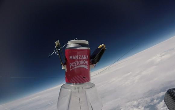 Forografía espacial ganadora del primer lugar en el Global Space Ballon Challenge. FOTO CORTESÍA KRATOS EAFIT