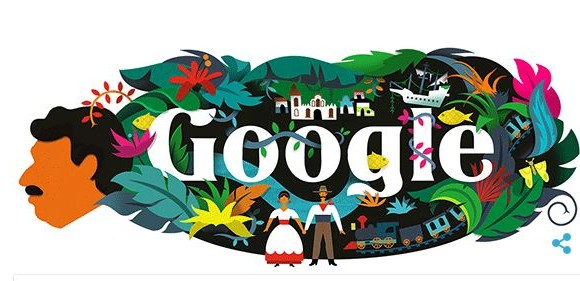 Este es el Doodle de Google en homenaje a Gabo. Foto: Google