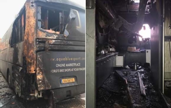 Detenido el pirómano que incendió el bus del Aqua Blue