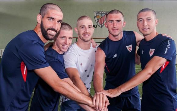Athletic Club muestra su apoyo a compañero con cáncer