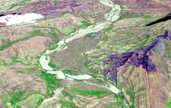 <b>Río Sambingo, Cauca, antes de la llegada de la minería en 2014</b>