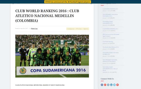 ddaf6f90285 IFFHS confundió a Nacional con Chapecoense