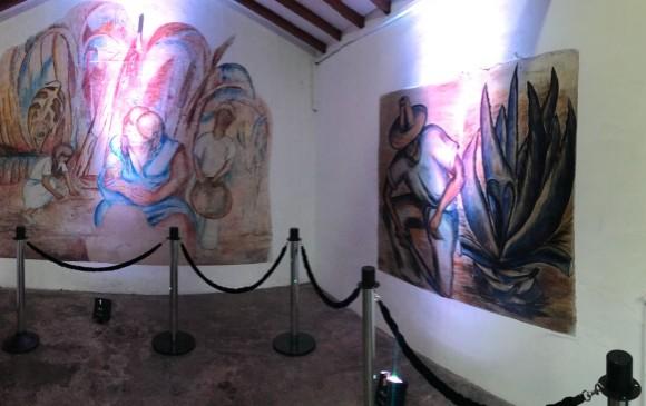 Los murales en el garaje. FOTO Cortesía Alcaldía de Envigado.