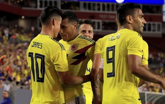 James llegó a 22 goles y es el tercer goleador histórico de Selección Colombia. FOTO: AFP