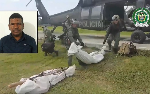 """Alias """"Tomy"""" (en el recuadro) y su escolta """"Gorra"""" murieron en un enfrentamiento con la Policía, en el municipio antioqueño de Yalí. FOTOS CORTESÍA"""