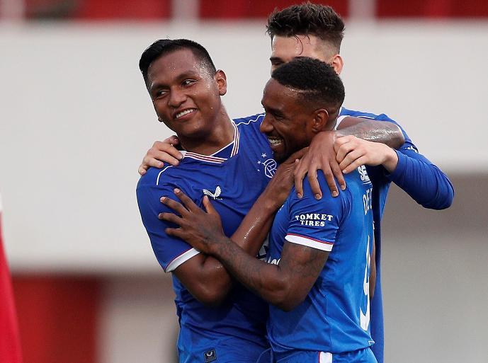Doblete del colombiano Alfredo Morelos en Europa League