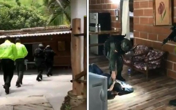 Captura de video, Policía Antinarcóticos.