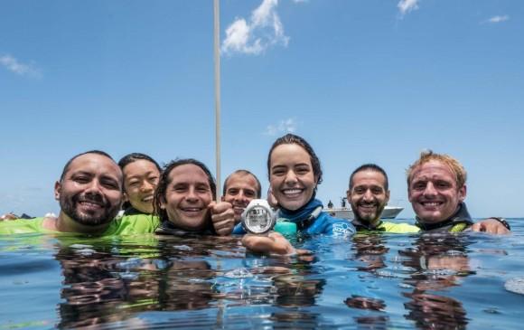 Colombiana logró récord mundial de inmersión en apnea
