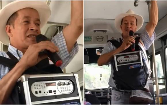 Humberto Caro asegura que nació para entretener a través de la música. FOTO CAPTURA DE PANTALLA.