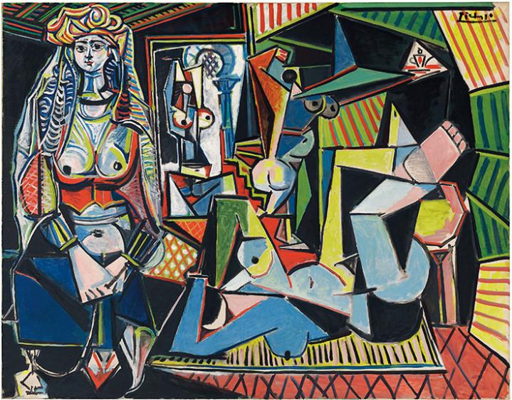 Las mujeres de Argel (versión 0), de Pablo Picasso. Es una pintura adjudicada en 160 millones de euros el 11 de mayo de 2015 en la casa Christie's de Nueva York. Hace parte de una serie de 15 pinturas y numerosos dibujos que el pintor español hizo en el decenio de 1950.