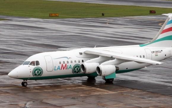 Este es el avión de la aerolínea LaMia que se extravió en el municipio de La Unión. FOTO Jetphotos.net
