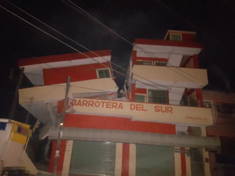 Primeras imágenes de los daños en Oaxaca. FOTO TOMADA DE TWITTER