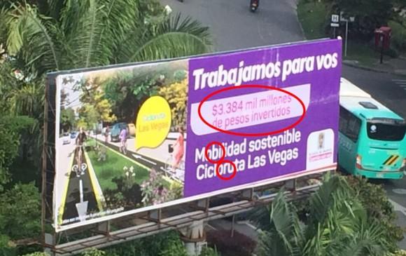 Las vallas con errores ortográficos que generaron indignación en Medellín