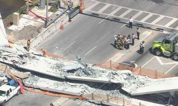 Varias personas mueren tras colapso de puente peatonal en universidad de Florida