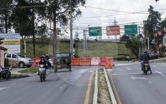 La construcción de las vías incluye doble calzada, ciclorrutas y andenes. FOTO JAIME PÉREZ