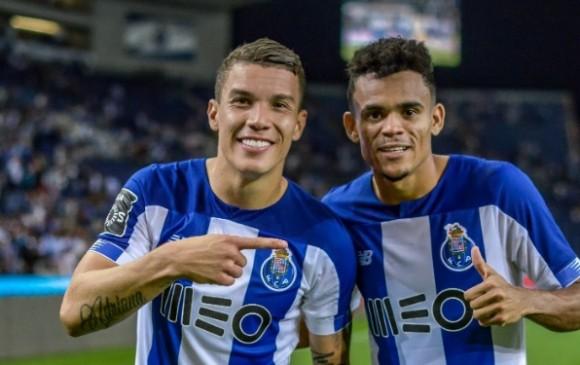 Luis Díaz y Mateus Uribe fueron inicialistas este sábado con el Porto. FOTO CORTESÍA PORTO