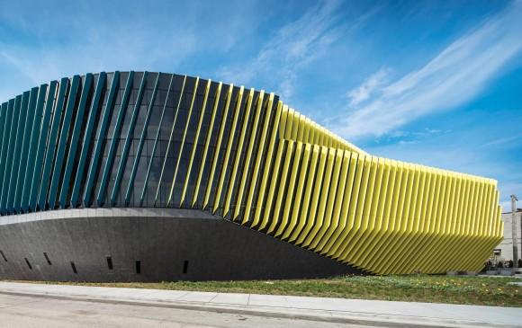 La megaestructura, diseñada por la firma de Juan Gabriel Moreno, rompe esquemas preconcebidos sobre entornos académicos. El edificio ya es un icono de la universidad. FOTO Cortesía JGMA