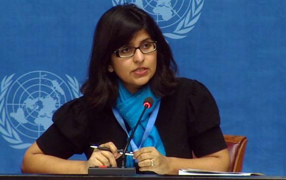 Ravina Shamdasani, portavoz de la Oficina del Alto Comisionado de naciones Unidas para los Refugiados. FOTO: ONU