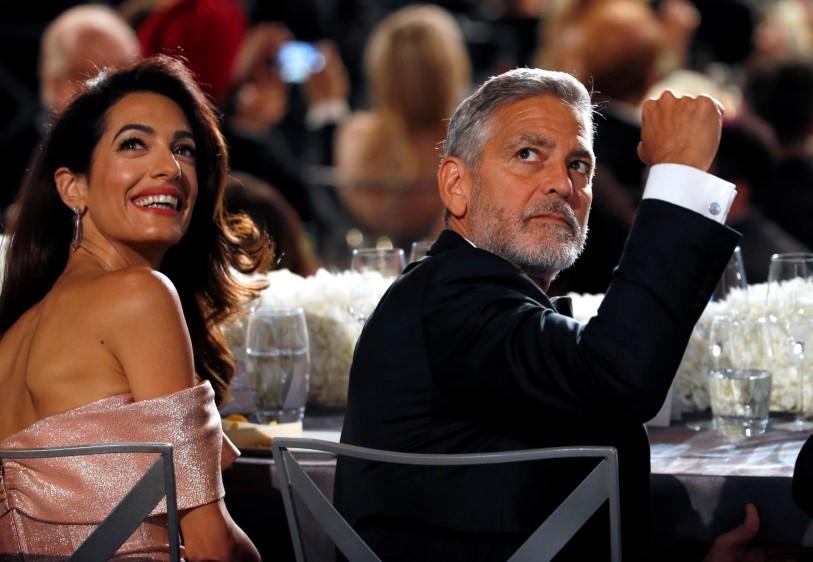 Amal y George Clooney. FOTO Reuters