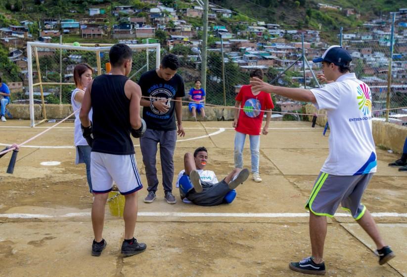 Los combates, a pesar de ser amistosos, parecen por la disputa de un título mundial. FOTO: JUAN ANTONIO SÁNCHEZ O.