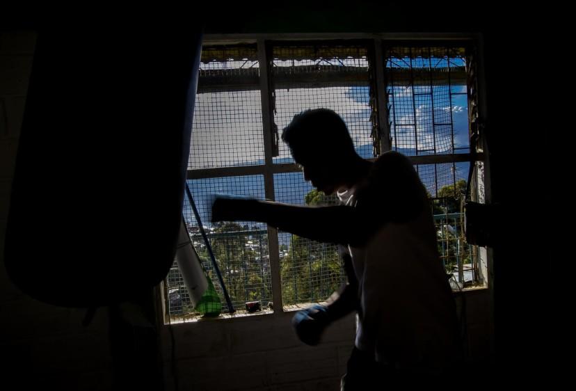 Una pequeña casa del sector fue acondicionada como centro de entrenamiento. FOTO: JUAN ANTONIO SÁNCHEZ O.