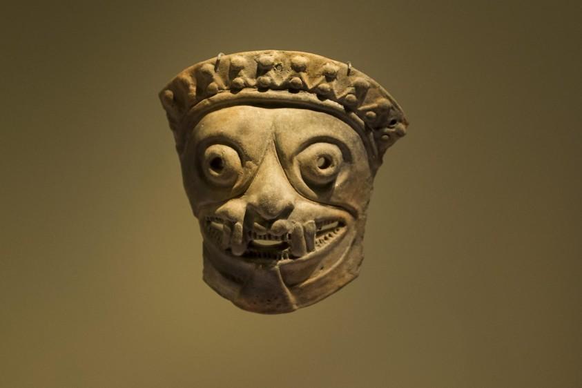 La exhibición hace parte de la colección arqueológica y etnográfica del Museo del Oro del Banco de la República. FOTO: ESTEBAN VANEGAS