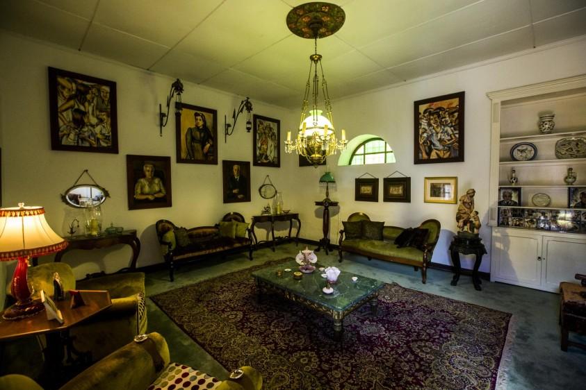 Sala donde recibía visitas especiales. FOTO: JAIME PÉREZ