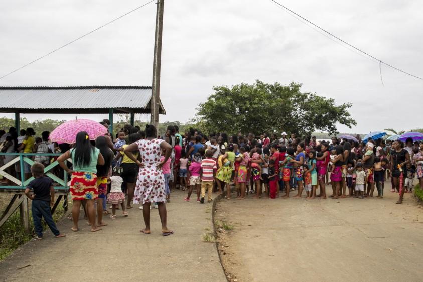 Comunidades afrocolombianas e indígenas Emberá fueron los más benefiaciados. Foto: Esteban Vanegas