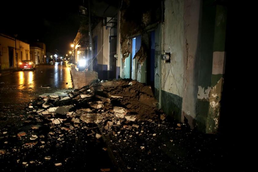 Daños en Chiapas, epicentro del sismo. FOTO TOMADA DE TWITTER