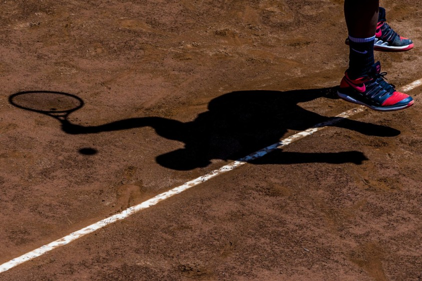 Final de tenis de campo de los juegos Universitarios en el Club El Rodeo. Foto: Jaime Pérez.