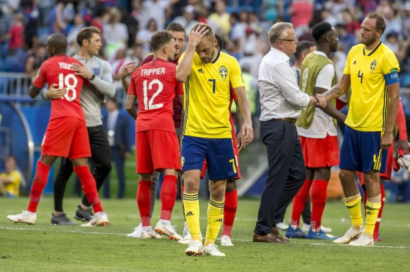 Encerrados, aguardando salir al contragolpe, Suecia cedió la iniciativa y lo acabó pagando. FOTO JUAN ANTONIO SANCHEZ