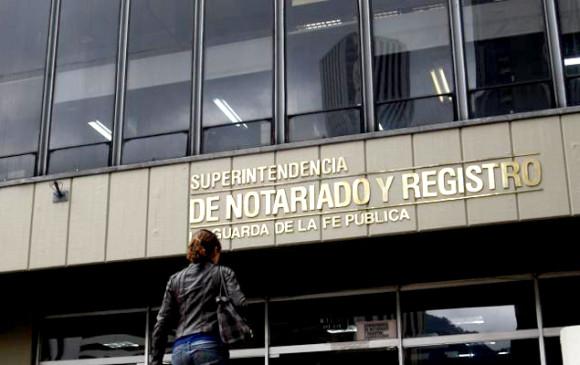 Foto: Superintendencia de Notariado y Registro.